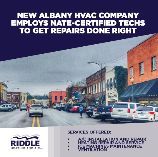 New Albany HVAC Company Employs NATE-Certified Techs To Get Repairs Done Right